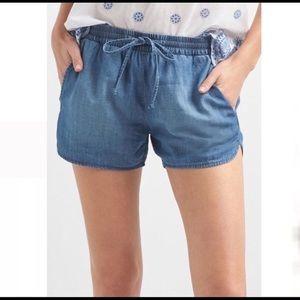 Gap Chambray Drawstring Shorts